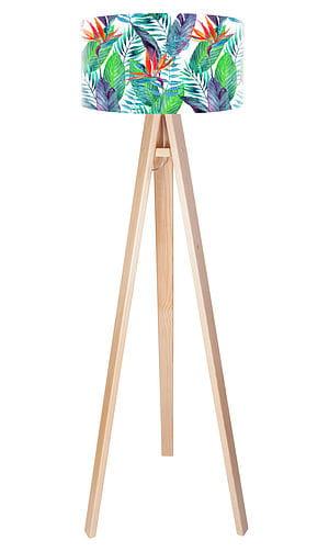 Egzotyczna lampa podłogowa MacoDesign Liście jungle tripod 405p w